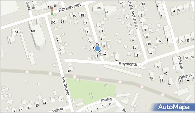 Zabrze, Bracka, 9, mapa Zabrza