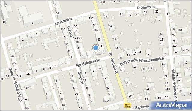 Zabrze, Brodzińskiego Kazimierza, 1, mapa Zabrza