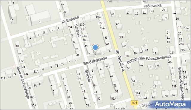 Zabrze, Brodzińskiego Kazimierza, 3, mapa Zabrza