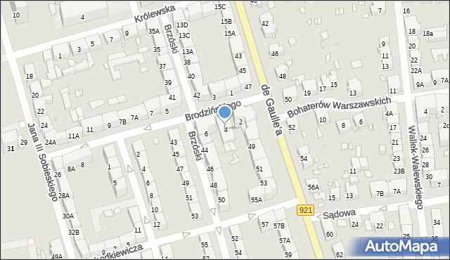 Zabrze, Brodzińskiego Kazimierza, 4, mapa Zabrza