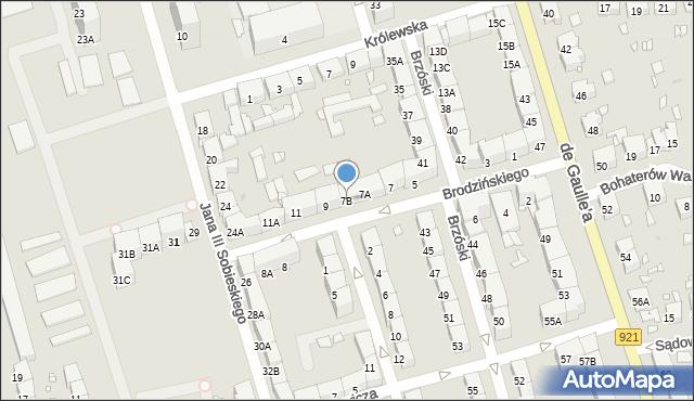 Zabrze, Brodzińskiego Kazimierza, 7B, mapa Zabrza