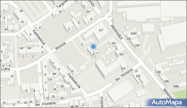 Zabrze, Brysza Wiktora, 3, mapa Zabrza