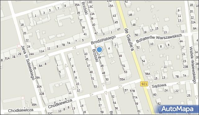 Zabrze, Brzóski Stanisława, ks., 44, mapa Zabrza