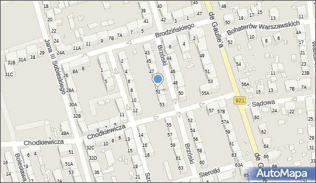 Zabrze, Brzóski Stanisława, ks., 51, mapa Zabrza