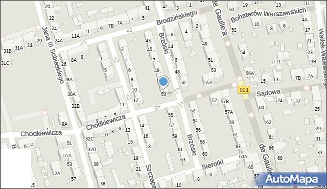 Zabrze, Brzóski Stanisława, ks., 53, mapa Zabrza