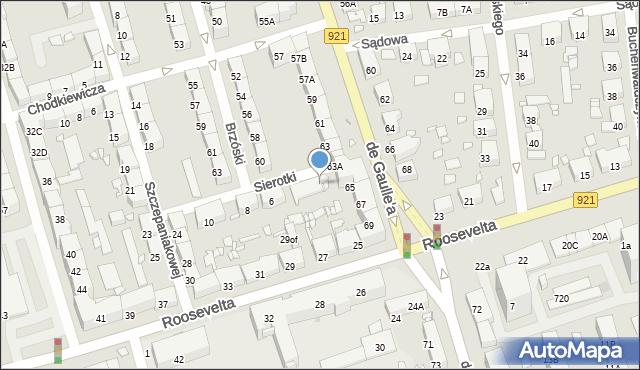 Zabrze, Brzóski Stanisława, ks., 556, mapa Zabrza