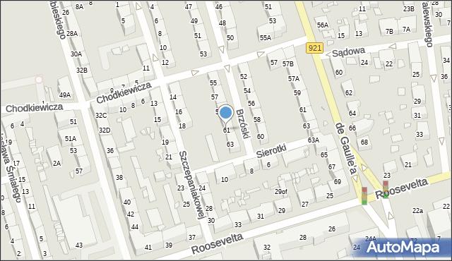 Zabrze, Brzóski Stanisława, ks., 61, mapa Zabrza