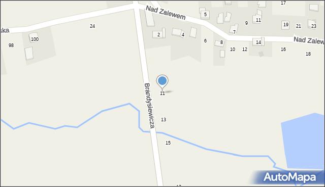 Zakliczyn, Brandysiewicza Wojciecha, ks., 11, mapa Zakliczyn