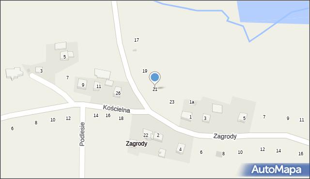 Zakliczyn, Brandysiewicza Wojciecha, ks., 21, mapa Zakliczyn