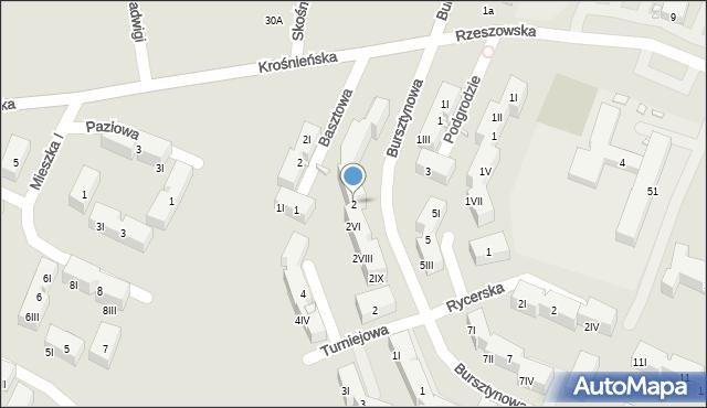 Będzin, Bursztynowa, 2, mapa Będzin