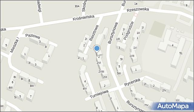 Będzin, Bursztynowa, 2V, mapa Będzin
