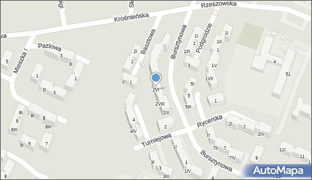 Będzin, Bursztynowa, 2VI, mapa Będzin