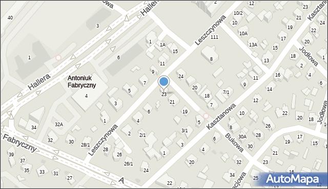 Białystok, Bukowa, 23, mapa Białegostoku