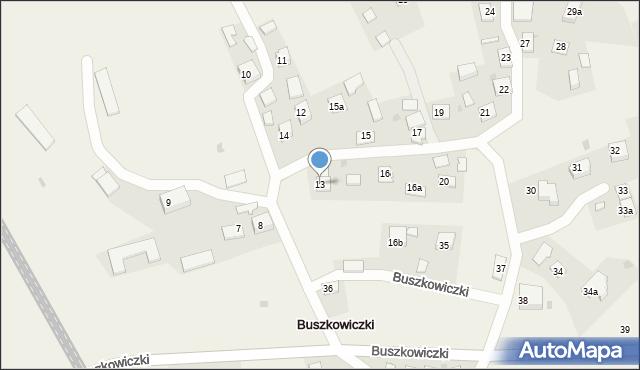 Buszkowiczki, Buszkowiczki, 13, mapa Buszkowiczki