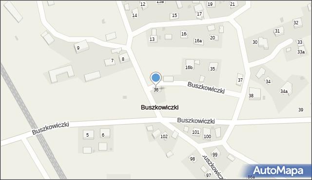 Buszkowiczki, Buszkowiczki, 36, mapa Buszkowiczki