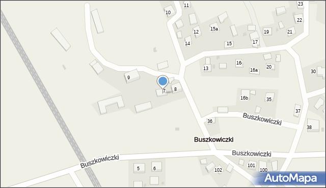 Buszkowiczki, Buszkowiczki, 8a, mapa Buszkowiczki