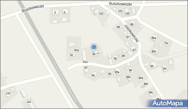 Buszkowiczki, Buszkowiczki, 91, mapa Buszkowiczki