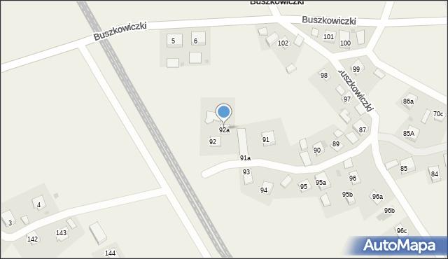 Buszkowiczki, Buszkowiczki, 92a, mapa Buszkowiczki