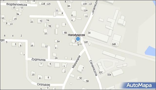 Chełm, Budowlana, 3, mapa Chełma