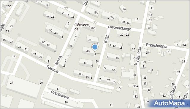Jaworzno, Bulgi Edwarda, 4, mapa Jaworzno
