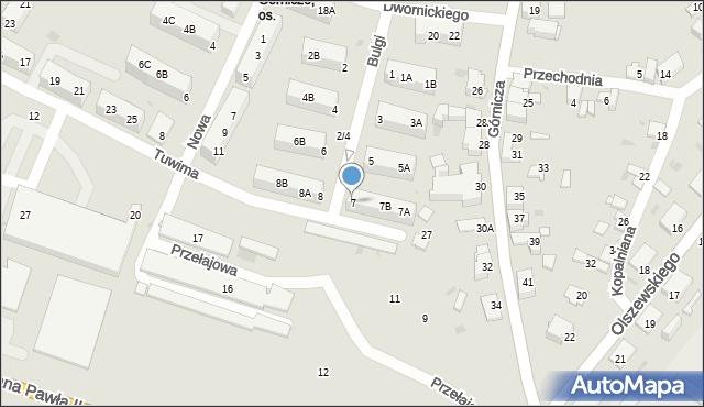 Jaworzno, Bulgi Edwarda, 7, mapa Jaworzno