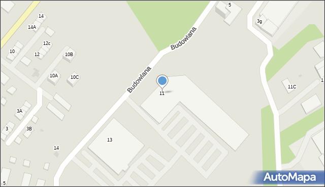 Kętrzyn, Budowlana, 11, mapa Kętrzyn