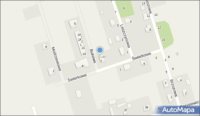 Kochanowo, Bukowa, 4, mapa Kochanowo