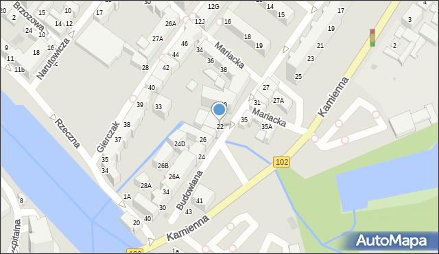 Kołobrzeg, Budowlana, 22, mapa Kołobrzegu