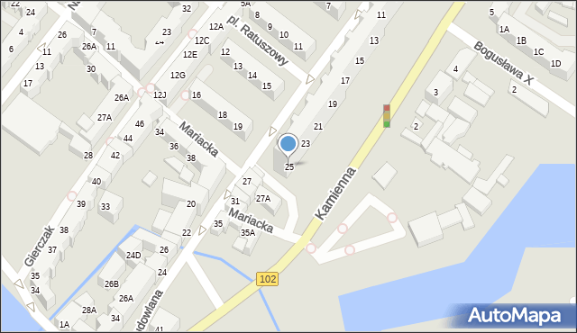 Kołobrzeg, Budowlana, 25, mapa Kołobrzegu
