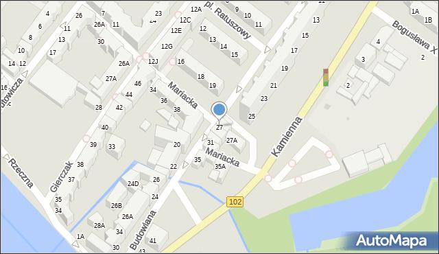 Kołobrzeg, Budowlana, 27, mapa Kołobrzegu