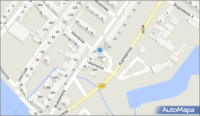 Kołobrzeg, Budowlana, 27A, mapa Kołobrzegu