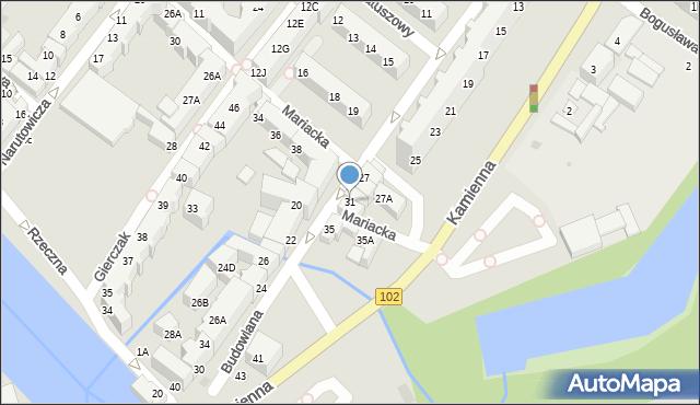 Kołobrzeg, Budowlana, 31, mapa Kołobrzegu
