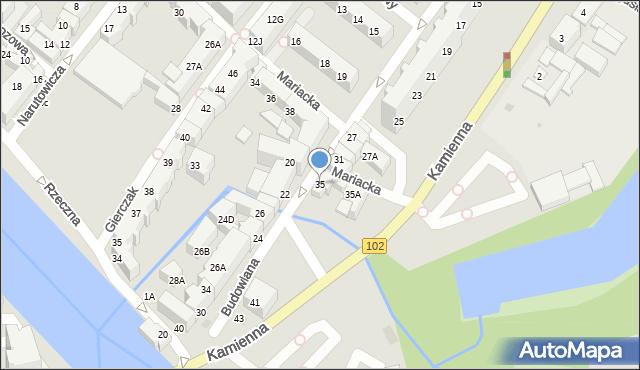 Kołobrzeg, Budowlana, 35, mapa Kołobrzegu