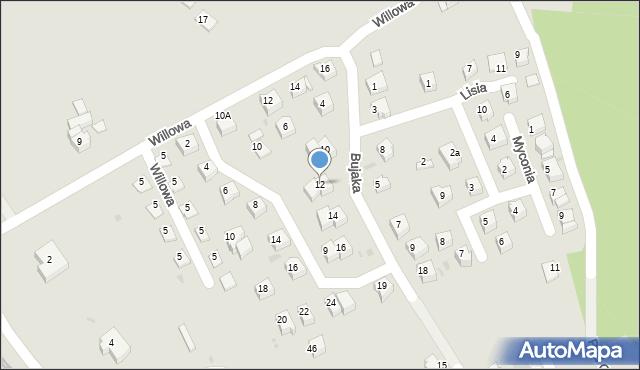 Limanowa, Bujaka Franciszka, 12, mapa Limanowa