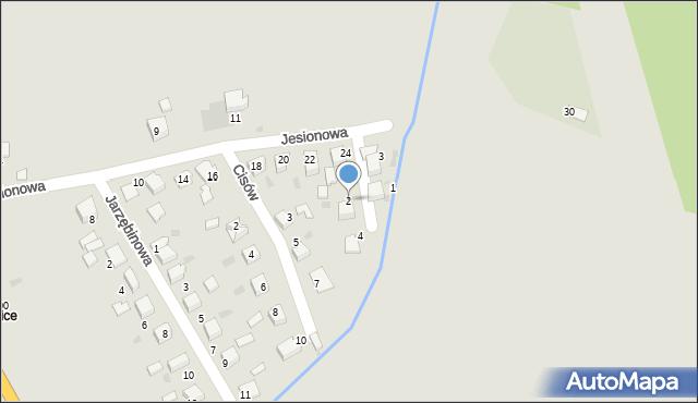 Mikołów, Bukowa, 2, mapa Mikołów
