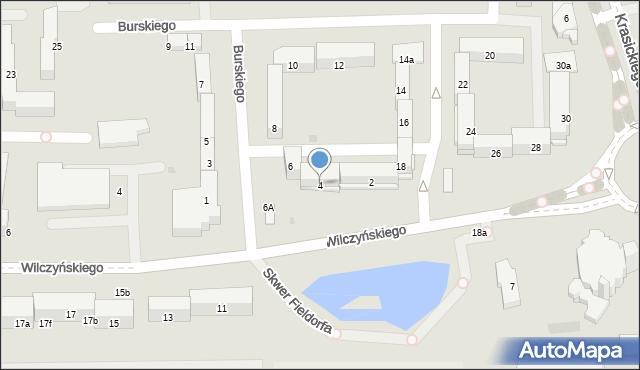 Olsztyn, Burskiego Jerzego, 4, mapa Olsztyna