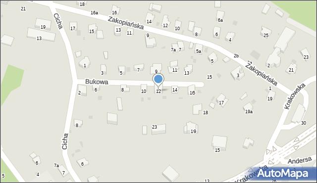 Przemyśl, Bukowa, 12, mapa Przemyśla