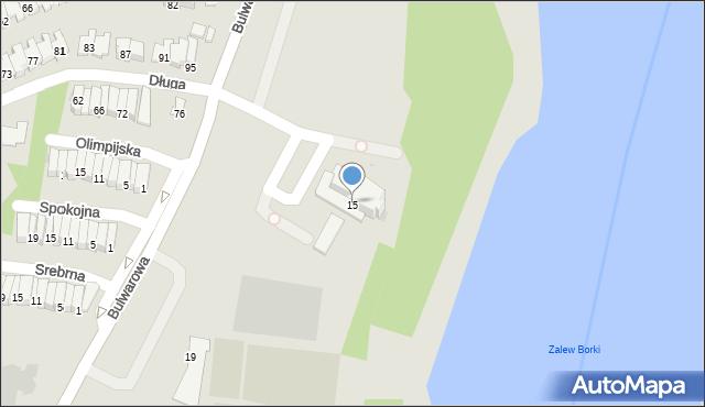Radom, Bulwarowa, 15, mapa Radomia
