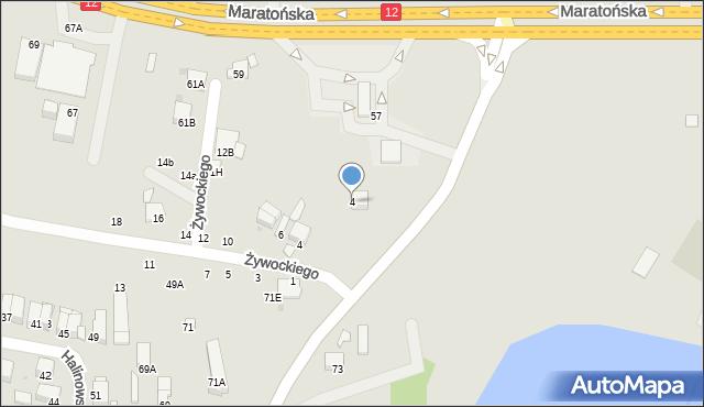 Radom, Bulwarowa, 4, mapa Radomia