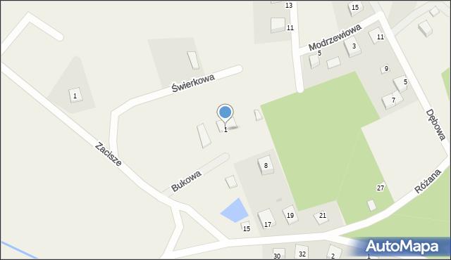 Robakowo, Bukowa, 1, mapa Robakowo
