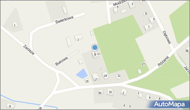 Robakowo, Bukowa, 8, mapa Robakowo