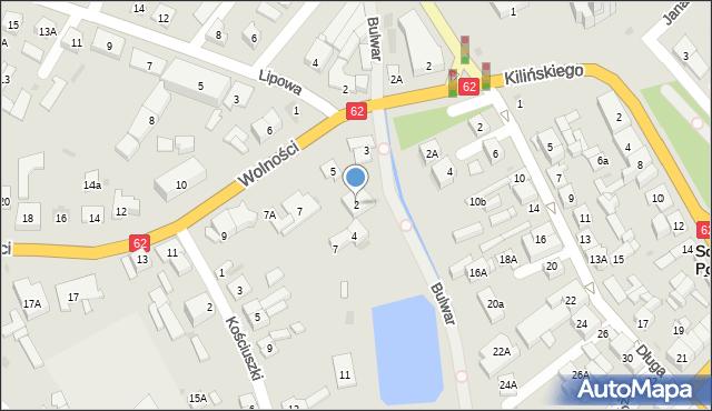 Sokołów Podlaski, Bulwar, 2, mapa Sokołów Podlaski