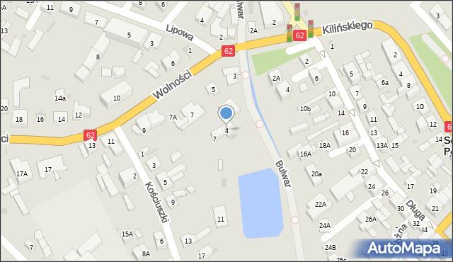 Sokołów Podlaski, Bulwar, 4, mapa Sokołów Podlaski