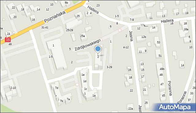 Toruń, Burhardta Stefana, 2, mapa Torunia