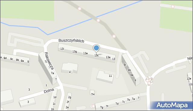 Toruń, Buszczyńskich Józefa i Sylwestra, 13c, mapa Torunia