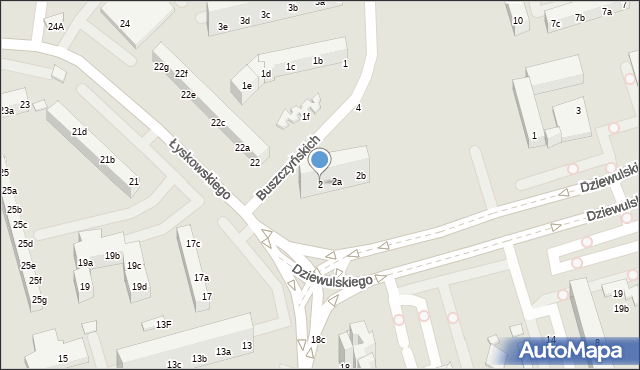 Toruń, Buszczyńskich Józefa i Sylwestra, 2, mapa Torunia