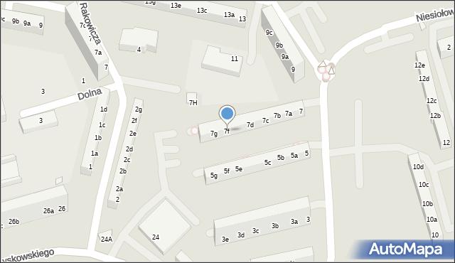 Toruń, Buszczyńskich Józefa i Sylwestra, 7f, mapa Torunia
