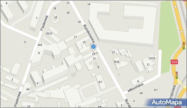 Warszawa, Burakowska, 13, mapa Warszawy