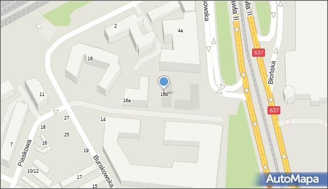 Warszawa, Burakowska, 16b, mapa Warszawy