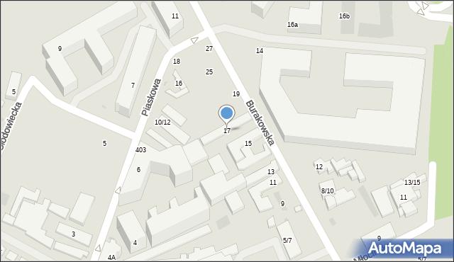 Warszawa, Burakowska, 17, mapa Warszawy